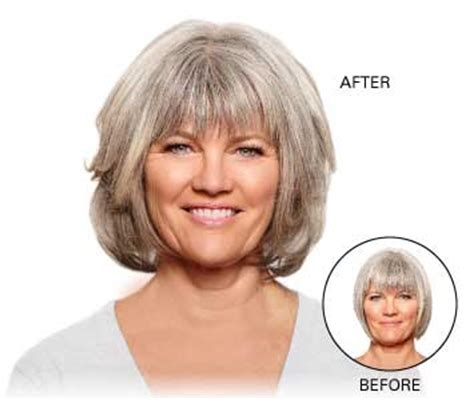 grey hair extensions before and after synthetic hair extensions for thinning hair before after