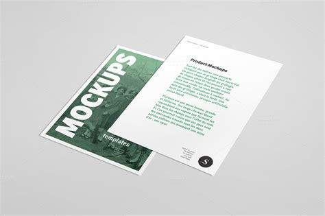 flyer mockup template free flyer mockup 06 product mockups on creative market