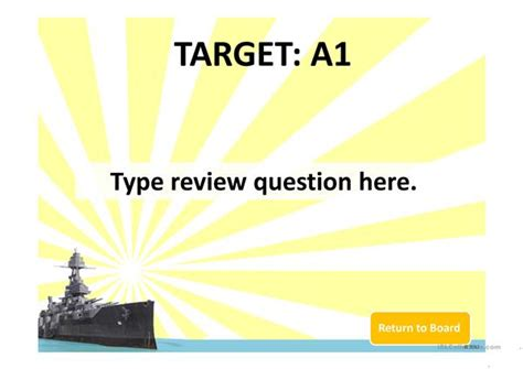 battleship powerpoint template battleship power point template worksheet free esl