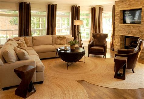 round living room rugs round braided rugs with contemporary living room and brown curtains white sofa window treatments