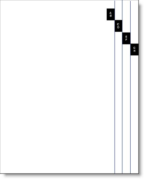 section dividers in word create a thumb index