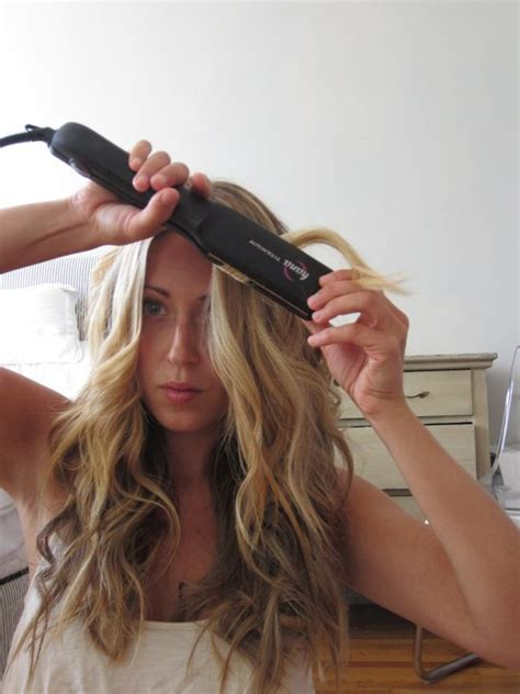 curly hairstyles using straightener wavy hair with a flat iron good tutorial with lots of