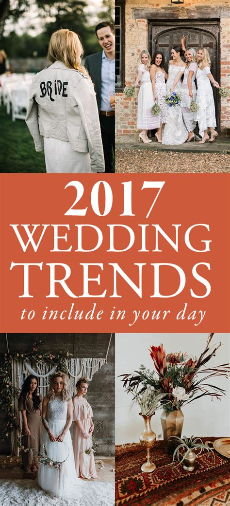 upcoming trends 2017 2017 wedding trends to include in your upcoming day
