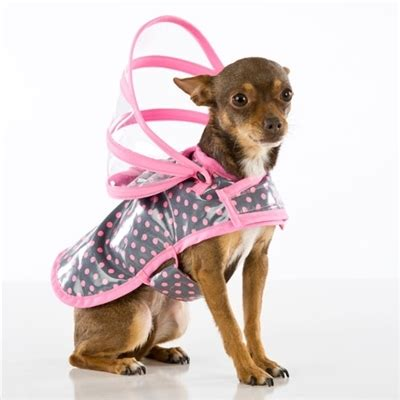 Rok Umbrella Polka pink polka dot raincoat raincoats for dogs