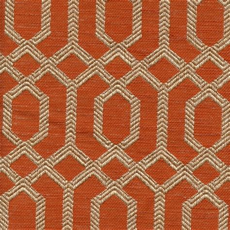 upholstery fabric orange parquet sienna orange geometric upholstery fabric