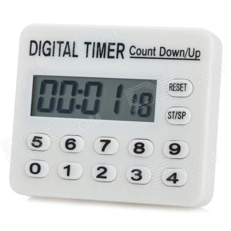 mini 1 7 quot lcd digital electronic timer white 1 x aaa