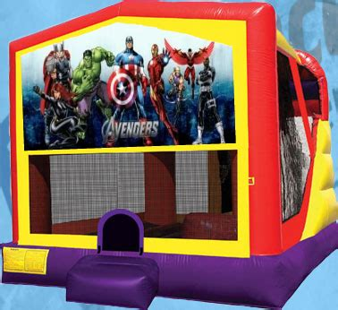 superhero house super hero bounce house slide avenger water slide