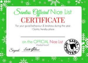 list certificate free printable