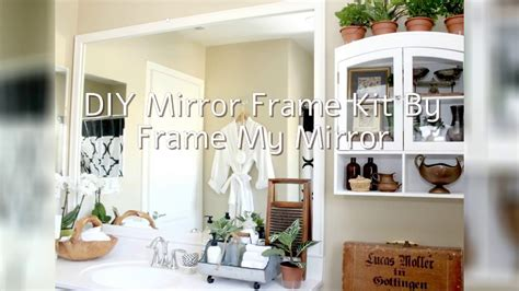 simple bathroom upgrades simple bathroom upgrade diy mirror frame with mendez