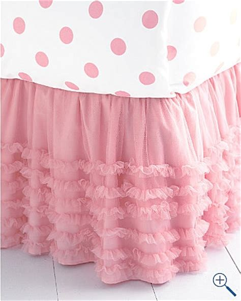 Pink Tulle Bedskirt W Polka Dot Sheets Everything Pink Bed Skirt