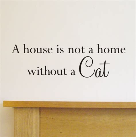 house is not a home a house is not a home without a cat wall quote sticker h554k