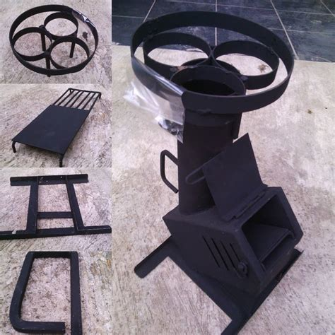 Yuetor Kompor Portable Bahan Kayu kompor kayu inovasi rocket stove for sale portable rocket stove wood stove rocket