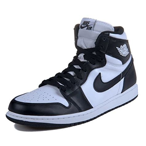 men jordan 1 c nike mens air jordan 1 retro high og black white leather