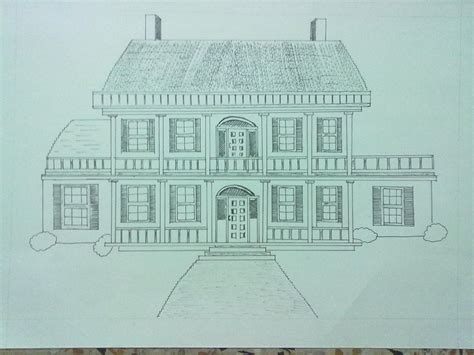 draw my house my dream house drawing poster