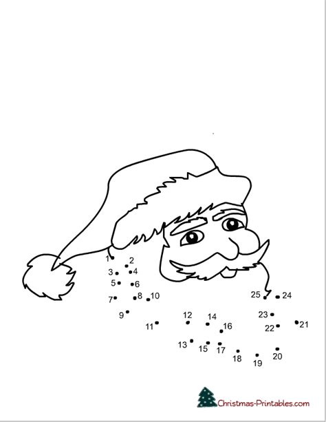 printable dot to dot for christmas printable christmas connect the dots worksheets