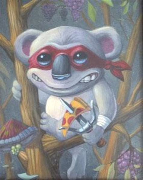 teenage koala pizza ninja by scott olive original art