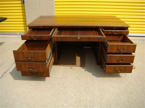Lawyer Desk L by Jofco Executive Bankers Lawyers Desk Walnut Finish