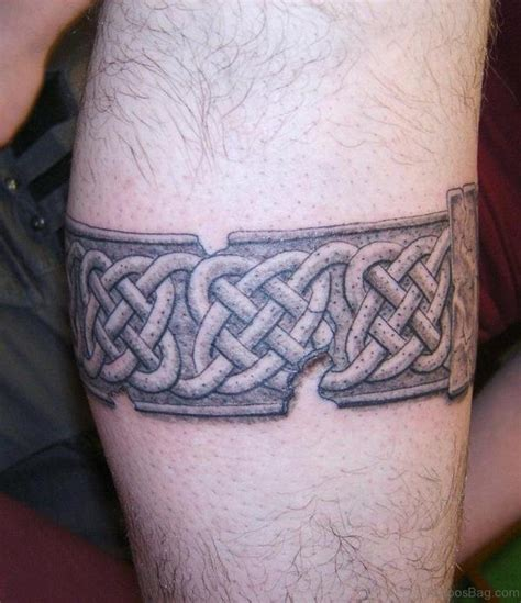 solid band tattoos 52 cool celtic tattoos design on leg