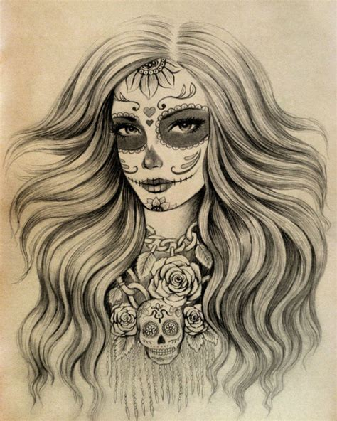 sugar skull tattoo designs tumblr sugar skull design