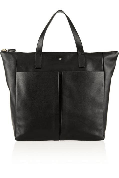 Anya Hindmarch Large Nevis Tote by Anya Hindmarch Nevis Zipped Leather Tote In Black Lyst