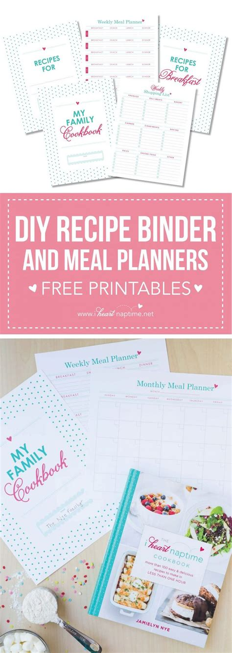 free printable kids cookbook mesas place full page recipe