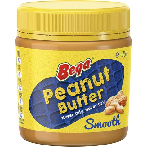kraft light peanut butter ingredients bega peanut butter smooth 375g woolworths