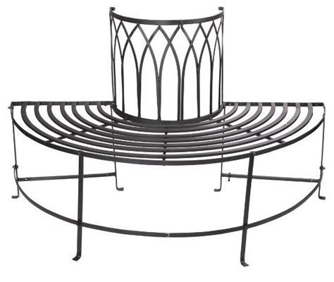 metal circular tree bench trentino steel garden tree seat black half circular metal