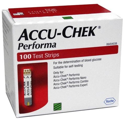 Unit Accu Chek Active accu chek performa blood glucose strips