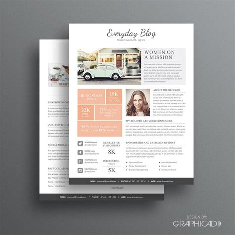 press kit template media kit template 08 2 page media kit template ad