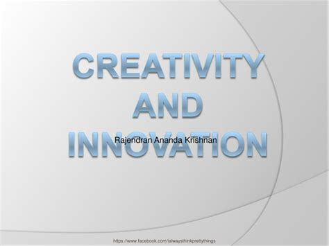 Mba Innovation And Data Analysis by Creativity And Innovation