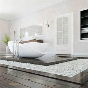 Modern Bathroom Zen Rocks Add A Zen Garden Vibe To This Modern Bathroom 12