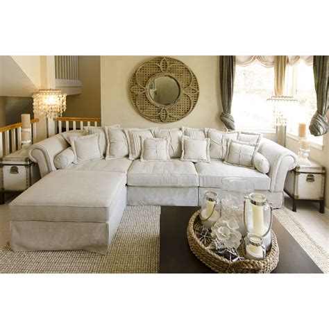 2 piece sectional with ottoman bella 2 piece fabric sectional sofa and ottoman sand