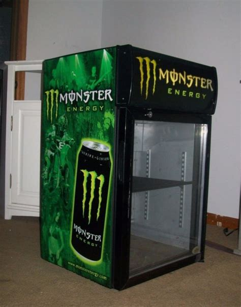 monster energy mini fridge g1 with led door light monster fridge shop collectibles online daily