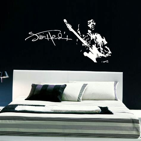 Large Wall Art Stickers jimmi hendrix large wall art sticker decal high quality
