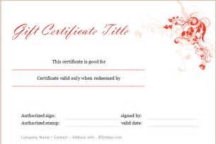 gift certificate design template gift certificate template floral design dotxes