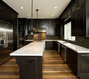 Kitchen Floor Ideas With Dark Cabinets Reclaimed Wood Floors W Dark Cabinets Our First Place