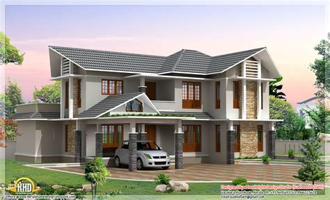 home design double story 2420 sq ft double storey house kerala home design