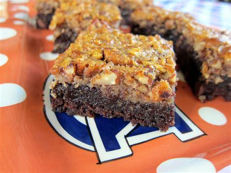 Big Pie Brownis pecan pie brownies football friday plain chicken