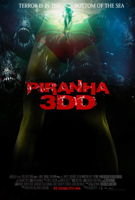 Poster Piranha 2 30x40cm piranha 3dd poster fan by diablito 666 by tibubcn on deviantart