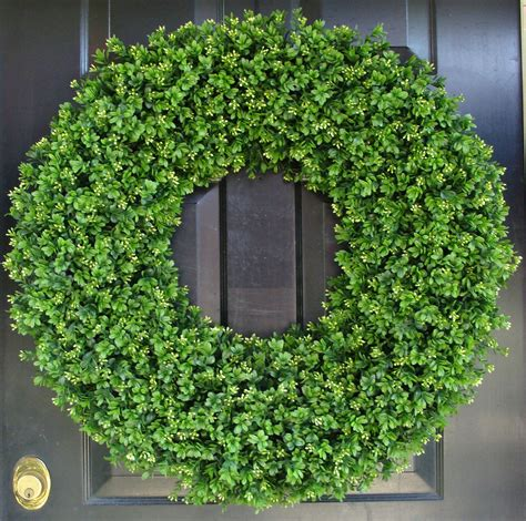 28 inch xxl artificial boxwood wreath oversized wreath