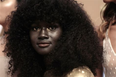 darkest skin color melanin goddess model speaks out against skin bleaching