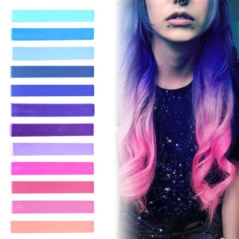 purple temporary hair color galaxy hair blue purple lilac pink pastel ombre hair