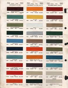 paint chips 1969 gmc chevy truck