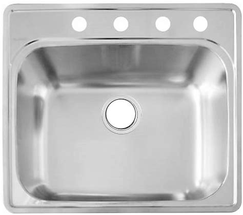 single bowl kitchen sink top mount as110 25 quot x 22 quot x 8 quot 20g single bowl topmount builder