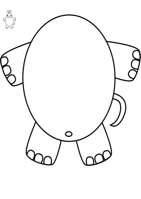 hippo mask template printable 2008 june