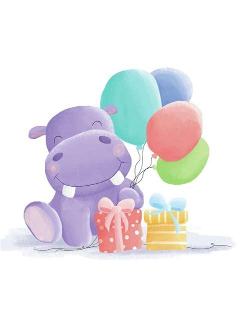 imagenes infantiles hipopotamo hipop 243 tamo de cumplea 241 os dibujos pinterest