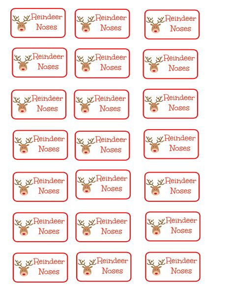Printable Reindeer Noses Labels | easy gift idea reindeer noses coupon closet