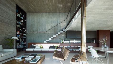interior of home concrete interior of house with concrete interior and