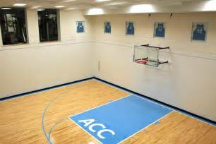 home basketball court custom acoustic panels in a football s home