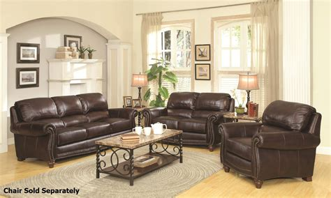 brown sofa and loveseat sets lockhart brown leather sofa and loveseat set steal a